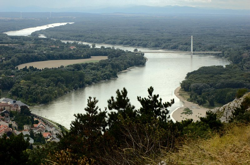 The Danube, looking west from Hainburg (photo: Wiki Commons)